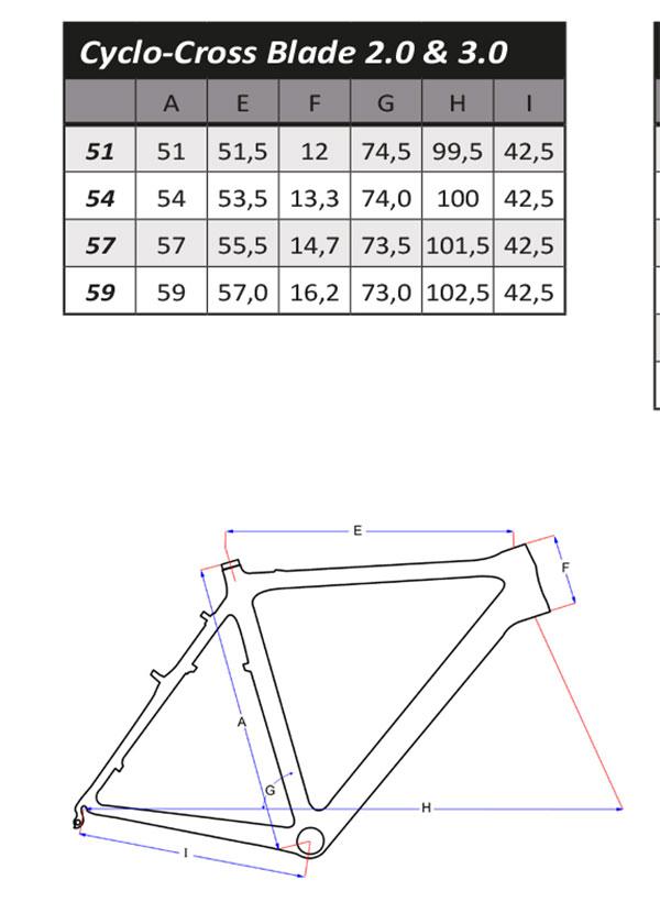 Geometrie Frame Flanders Cyclo-Cross Blade 2.0