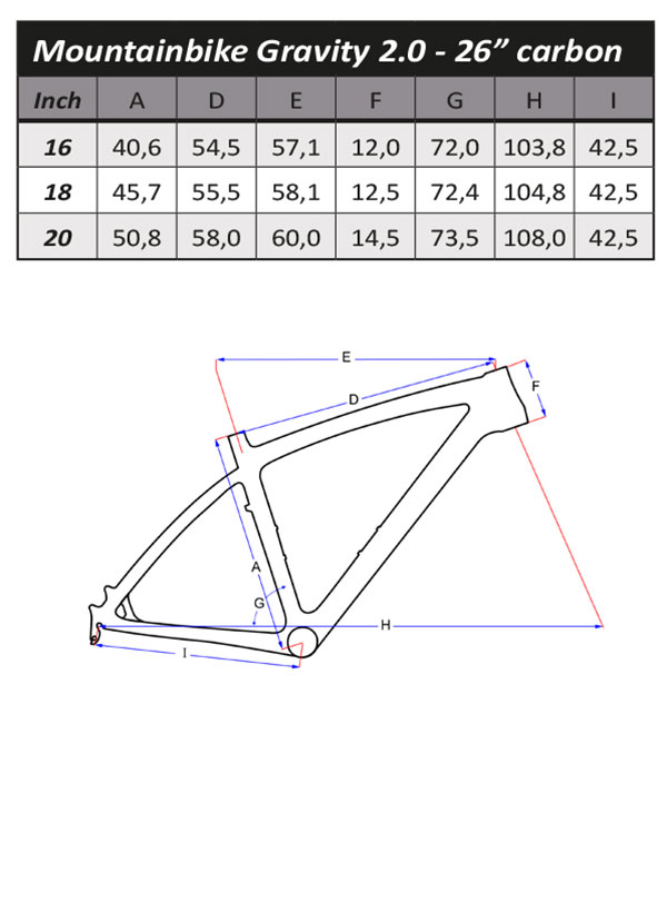 Geometrie Frame Flanders MTB Gravity