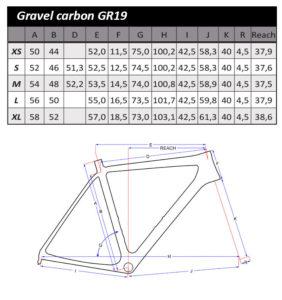 Geometrie Flanders Gravelbike GR19